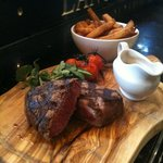 Fillet steak and chips