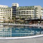 Hotel, pool and pool bar
