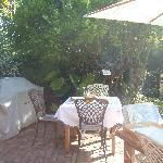 Terrasse beim Frühstück