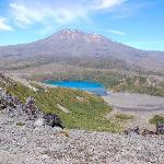 Lower Tama Lake with Mt Ngauruhoe in background