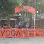 Orange yoga centre on the beach front