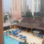 Hotel pool + restaurant