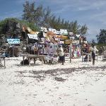 bancarelle sulla spiaggia