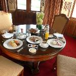 delivered the complimentary breakfast in the room
