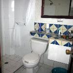 Bathroom in room 108 at Hotel Rio - Feb 2011