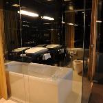 Black room bathroom