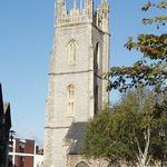 St John's Church, rebuilt many times since the 12th century, but it's 15th century tower is one