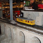 Drinks leave the bar by train...