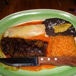 My dinner, the Carne Asada a la Tampiquena