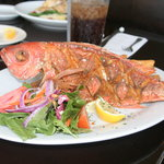 Whole Fried Vermillion Snapper $25