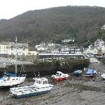 Lynmouth harbour, with hotel on the far right