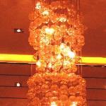 Cool chandelier at Gold