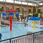 Enjoy our indoor pool and water playland!