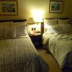 Las camas de una habitación clásica
