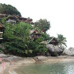 walking along the beach to our family room on the rocks