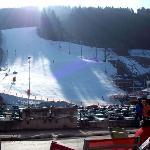 Ski piste in front of hotel