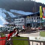 Ski Complex on the right of hotel