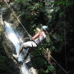 My husband Craig descending the waterfall