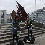 Segwaying taking in the sights at Eyre Square