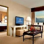 21st Floor suite with a mountain view