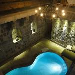 The lower level of our room including heated pool