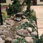 even has a running stream in courtyard