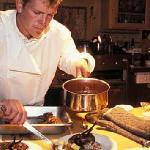 Chef Preparing Gourmet Dinner