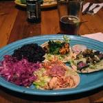 salade on left with three tacos