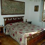 Villa Il Borraccio camera con vista sulla colline del Chianti e San Gimignano