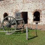 Cannon on display at the fort