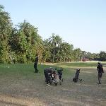Les caddies Leroi, Abdou, Saloum et Marcel
