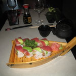 An order of Crystal Roll (spicy tuna, cucumber and avocado covered with tuna) at Umi Sushi & Asi