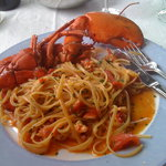 Pasta with lobster for lunch