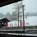 the ski slopes from the lobby