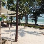 Vue du restaurant de la plage
