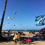 Beach view from kite club