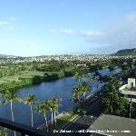 Ala Wai Canal and Diamond Head view from our room.