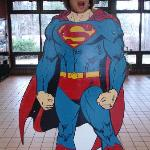 Superman Cutout in the Rest Area