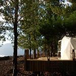 nuestra habitacion frente al lago