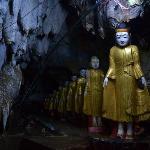 Buddhas, cave temple near Kalaw