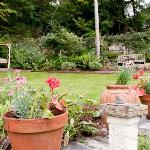 The rear Garden at Bryn Bella offers peace & quiet for your relaxation and enjoyment
