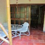 Room entrance/garden table