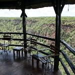 Bar area overlooking the gorge