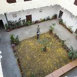 Inner Courtyard been decorated with flower petals for lunch party by owner Sanjay...wonderful sm