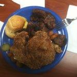boneless porkchop and beef tips