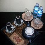 detalle gratuito de aguacafé y té diario