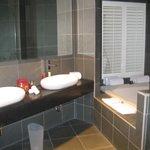 HUGE bathroom with great shower