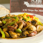 Chicken salteado, a favorite for lunch or dinner.