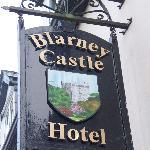 Sign for Blarney Castle Hotel
