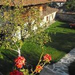 Il giardino visto dal balcone